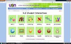 A GREAT site with interactive stuff for k-2 all aligned to Common Core...Thank you Utah!