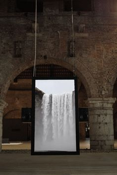Soothing Audiovisual Installation of Waterfalls...