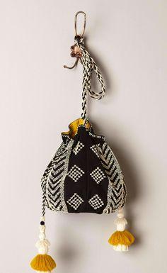 New Winter Clothing for Women : Anthropologie - Nolina Beaded Crossbody Bag Diy Pochette, Ethno Style, Potli Bags, Ethnic Bag, Look Boho, Boho Bags, Tapestry Crochet, Knit Crochet, Fabric Bags