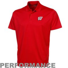 Wisconsin Badgers Omega Solid Mesh Tech Performance Polo - Cardinal - $34.99