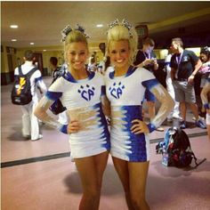 Jamie Andries and Peyton Mabry in Cheetahs new uniforms......hard pass I really don't like these but o well not my gym