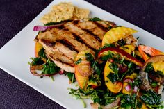 Balsamic Chicken With Watercress and Nectarine Salad