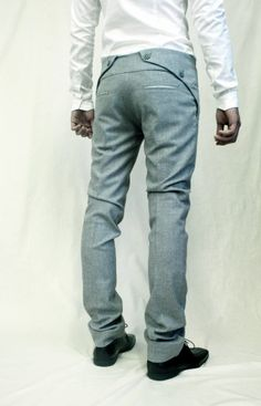 Sweet pant design on Sruli Recht's Constricted Ash Suit