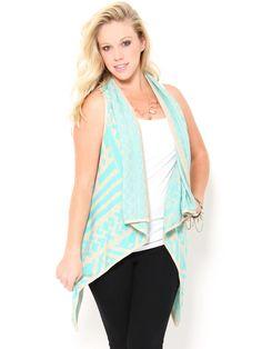 #Aztec Print Knit Vest