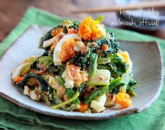 No Cook Appetizers, Appetizer Salads, Diet Recipes, Cooking Recipes, Healthy Recipes, Japanese Dishes, Japanese Food, Cafe Food, Vegetable Recipes