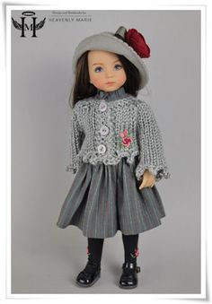 Effner-OOAK-Gray-Outfit-Ensemble-13-Little-Darling-Clothes-by-HM