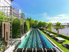 The Siam, Thailand: Bill Bensley-designed The Siam is an interior fan's dream, set on the banks of Bangkok's Chao Phraya River. Grab a cocktail at Bathers Bar and take a dip into the glorious infinity pool overlooking the water. If you've any energy left afterwards, try out the hotel's very own muay Thai boxing ring, or have a jig at Deco Bar where jazz tunes entertain chilled-out guests. #TheSiam #Bangkok #River