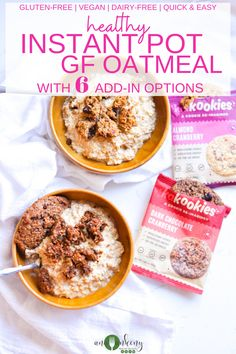 Instant Pot Creamy Oatmeal Made 6 Ways is the best hot breakfast. A healthy oatmeal recipe made 6 ways with added superfoods to make this a healthy breakfast. Gluten-free and vegan breakfast! Clean Eating Breakfast, Savory Breakfast, Breakfast For Kids, Healthy Oatmeal Recipes, Healthy Breakfast Recipes, Clean Eating Recipes, Fall Recipes, Beef Recipes, Whole Food Recipes