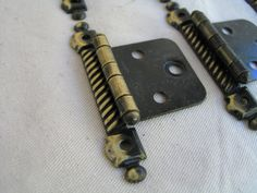 Five Mid Century Cabinet Hardware Brass Hinges by Itzvintagedarling on Etsy