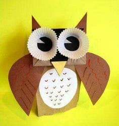 Owl/ búho /Crafts Paper bag/puppets/titeres/ animals/animales