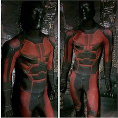 Netflix's Daredevil bodysuit Daredevil Cosplay, Vigilante, Costume Ideas, Costumes, Spiderman, Batman, Defenders, Deadpool, Netflix