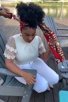 Hair Wrap Scarf, Hair Scarf Styles, Curly Hair Styles, Natural Hair Styles, Mode Turban, Hair Turban, Scarf Hairstyles, African Hairstyles, African Hair Wrap