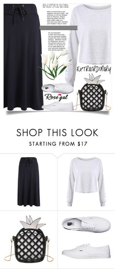 """Rosegal 86"" by nejra-l ❤ liked on Polyvore featuring Vans, Summer, dress, promotion and rosegal"
