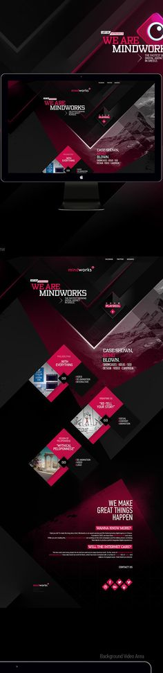 Mindworks New Website by Mike Polizos, via Behance. If you like UX, design, or design thinking, check out theuxblog.com