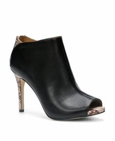 How adorable are these Peep Toe Booties?  They're an easy way to dress up any pair of jeans