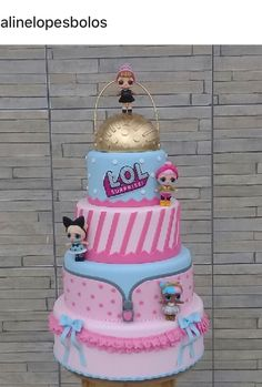 New birthday girl funny 29 ideas Funny Birthday Cakes, 6th Birthday Parties, Birthday Cake Girls, Birthday Party Decorations, Bolo Fack, Lol Doll Cake, Surprise Cake, Doll Party, Bday Girl