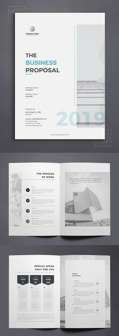 20 New Creative Business Proposal Templates Professional Business Proposal Templates with elegant design. These Proposal or brochure templates use for any kind of purpose like project proposal, company Booklet Design Layout, Pamphlet Design, Design Brochure, Brochure Template, Layout Design, Word Template Design, Chart Design, Page Design, Free Business Proposal Template