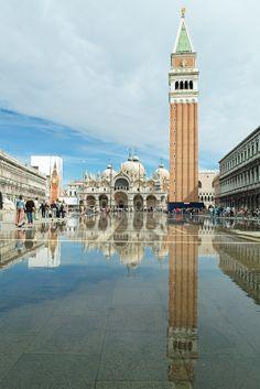 Venezia - pza. San Marco, flooded