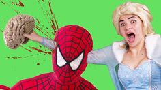 Spiderman die Frozen Elsa vs Joker Batman vs maleficent ! w/ Fun Superhe...
