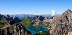 Herbsturlaub Vorarlberg, Herbstferien, Lünersee, Brandnertal, Herbstwandern… Austria, River, Vacation, Mountains, Nature, Moon, Outdoor, Kids, Tours
