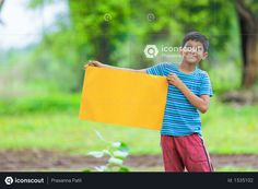 boy sitting in farm and holding yellow board Photo Agriculture Photos, 3d Assets, Icon Pack, Photo Illustration, Free Design, Vector Free, Hold On, Photoshop, Animation