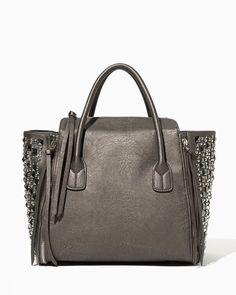 Danika Stud-Mix Tote | Fashion Handbags & Purses | charming charlie. Love the Metallic and Shiny Studs!!
