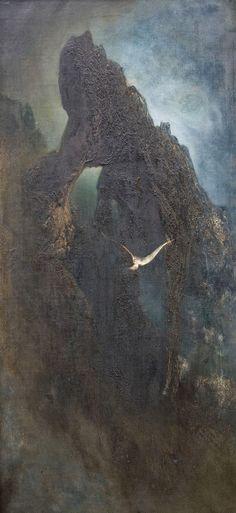 Karl Wilhelm Diefenbach ~ Symbolist and Art Nouveau painter. I'm In Heaven Art Nouveau, Oceans Song, Moonlight Painting, Capri, Romanticism, The Guardian, Art World, All Art, Landscape Paintings