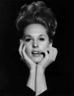 "Portrait of Tippi Hedren, 1960's. The only still of her I can recall that shows a family resemblance to her daughter Melanie Griffith--say circa ""Working Girl""."