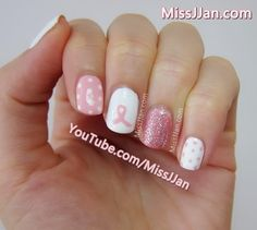 MissJJan's Beauty Blog ♥: Breast Cancer Awareness Nail Art