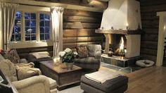 Cabin Interior Design, Interior Decorating, Norway House, Cabin Interiors, Cozy Cabin, Log Homes, House Ideas, Farmhouse, Rustic Homes