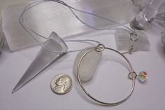 Circle necklace sterling silver round pendant circle pendant