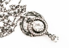 CZ & Crystal Medallion Necklace