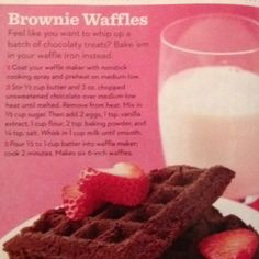 Brownie Waffles {Parents March 2012}