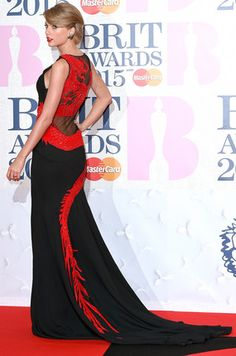 Taylor Swift in Roberto Cavalli Atelier at 2015 Brit Awards in London UK