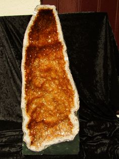 rocknonymous:  Giant Citrine Geode I want a big citrine geode for my home.  Besides being beautiful, citrines attract wealth, prosperity and creativity