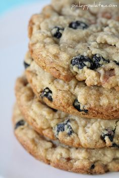 Blueberry Caramel White Chocolate Oatmeal Cookie... I might sub dried cranberries...