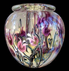 Clayton Lane Fine Arts • Timothy Lotton | Purple Bleeding Heart Bowl