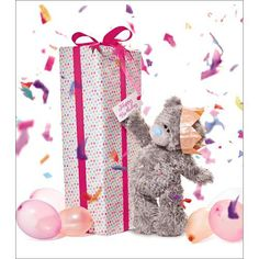 Giant Birthday Present Me to You Bear Card