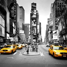 Fotobehang - Times Square - Cabs Colorsplash
