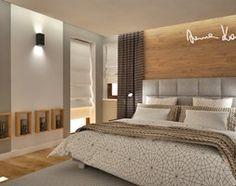 Dom jednorodzinny - Sypialnia, styl nowoczesny - zdjęcie od Anna KarJan Pracownia architektury wnętrz