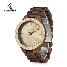 Cheap wristwatch brand, Buy Quality wristwatch mens directly from China wristwatch mens wood Suppliers: BOBO BIRD Top Brand Luxury Watches Men All Wood Quartz Handmade Unique Dress Wristwatch with Steel Fashion Dial Armani Watches For Men, Luxury Watches For Men, Rolex, Wooden Watch, Wood Gift Box, Beautiful Watches, Unique Dresses, Bird, Luxury Watches