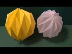Great tutorial on how to fold an origami ball - could be used for Christmas ornaments... Chinese video - though no speech.