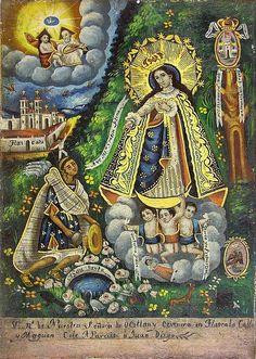 Exvoto a la Virgen de Ocotlán, Tlaxcala, Mexico