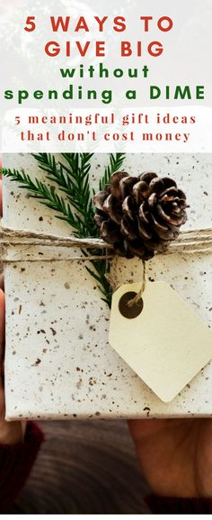 Omg genius ideas to give meaningful gifts that don't cost anything!