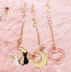 Sailor Moon Cats/Moon/Heart Pendant SP166889