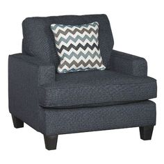 Brighton Navy Upholstered Casual Contemporary Chair $449.99 SKU: 110073850