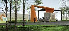 Front Gates, Entrance Gates, Grand Entrance, Main Gate Design, Entrance Design, Arch Gate, Parque Industrial, Portal, Guard House