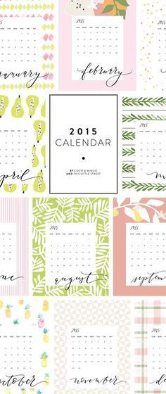 Happy New Year // 2015 Calendar printable (free!)