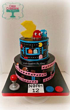 Pac-Man, Donkey Kong Cake (Retro Video Game Cake)