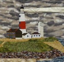 Lighthouse quilt block patterns for sale Rag Quilt, Quilt Bedding, Quilt Blocks, Bed Quilt Patterns, Montauk Point, Ocean Quilt, Indian Paintbrush, Quilts For Sale, Custom Quilts